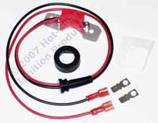 Hot-Spark electronic ignition conversion kit replaces points in 6-cylinder Ford, Fomoco, Autolite, Motorcraft distributors