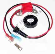 Hot-Spark electronic ignition conversion kit replaces points in 8-cylinder Ford, FoMoCo, Autolite, Motorcraft distributors