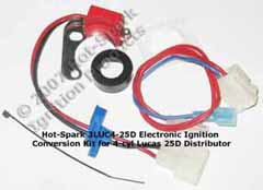 Hot-Spark Electronic Ignition Conversion Kit replaces points in 22D6 Lucas Distributors