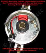 Electronic Ignition Conversion Kit replaces points in 8-cylinder Mallory Marine Distributors