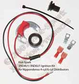 Hot-Spark 3ND4U1 and 3ND6U1 Electronic Ignition Conversion kits for 4-cylinder and 6-cylinder Toyota Nippondenso distributors Carina, Corolla, Celica, Corona, Industrial