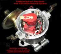 HS25D4 Electronic Vacuum-advance Distributor with 3LUC4-25D electronic ignition replaces 23D4, 25D4 Lucas 4-cylinder vacuum-advance distributors