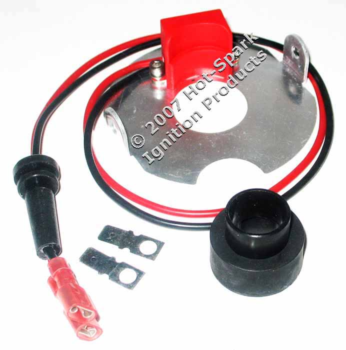Hot-Spark Electronic Ignition Conversion Kit for 4-Cylinder Autolite Distributors for Marine, Agricultual and Industrial Engines