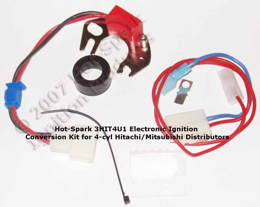 Hot-Spark 3HIT4U1 Electronic Ignition Conversion Kit in Honda Accord 4-cylinder Distributor - Nissan; Datsun; Mazda; Chevrolet Luv; Dodge Challenger, Colt; Ford Courier
