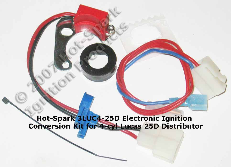 Hot-Spark Electronic Ignition Conversion Kit for 23D4, 25D4, 43D4, 45D4, 59D4, 22D6, 25D6, 35D8 Lucas Distributors