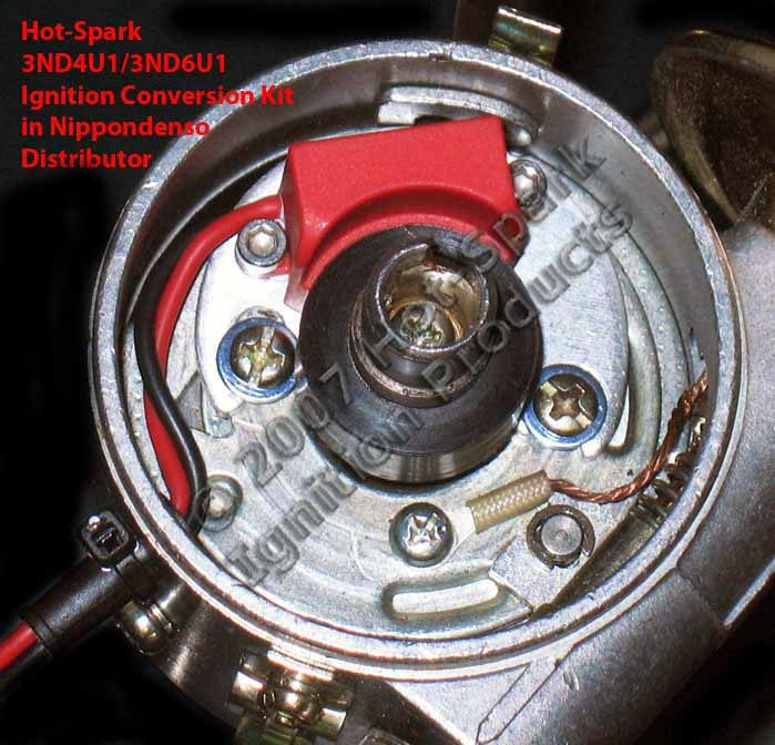 Hot-Spark 3ND4U1 and 3ND6U1 electronic ignition conversion kit in Nippondenso distributor