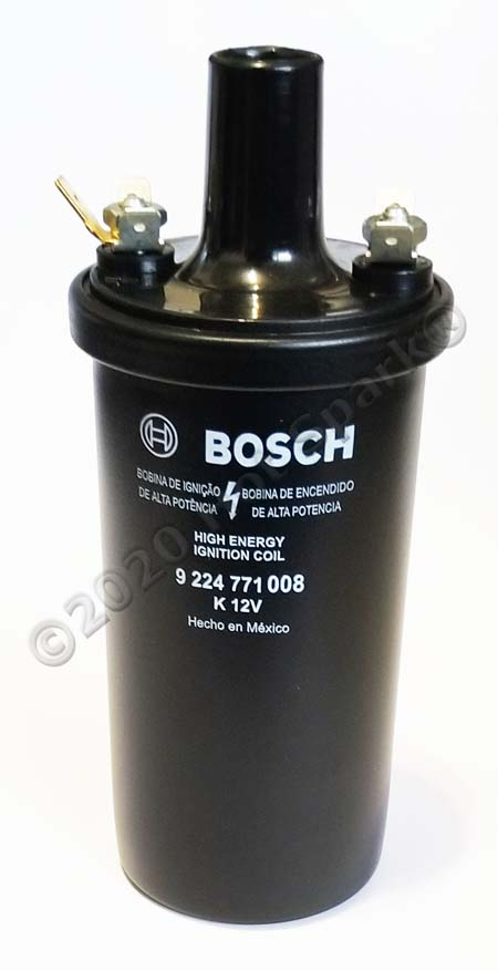 Bosch Black 9224771008 Ignition Coil with 3.4 Ohms Primary Resistance.
