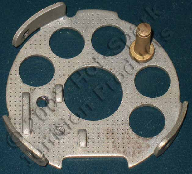 Breaker plate from Bosch non-vacuum-advance distributor with 2-piece points