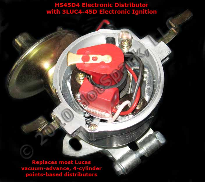 HS45D4 Replacement Electronic Distributor for Lucas 25D4, 45D4, 48D4, 54D4 and 59D4 Distributors