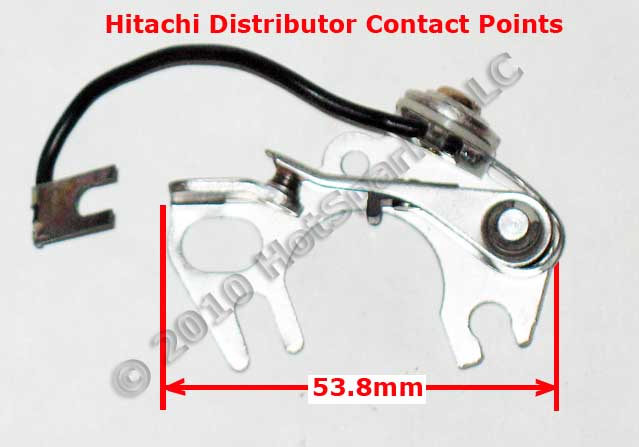 Hitachi Distributor Points: Chevrolet LUV Pickup; Dodge Colt, Challenger; Datsun; Ford Courier; Honda Civic, CVCC Prelude, Accord; Hyundai; Mazda; Plymouth; Subaru; Nissan; Komatsu; TCM Industrial