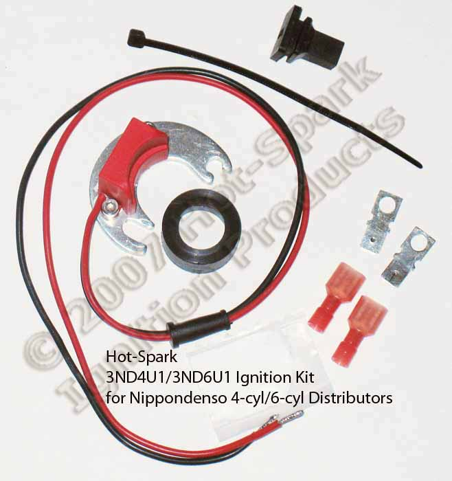 hotspark 3nd4u1 and 3nd6u1 electronic ignition conversion kits for 4cylinder and 6