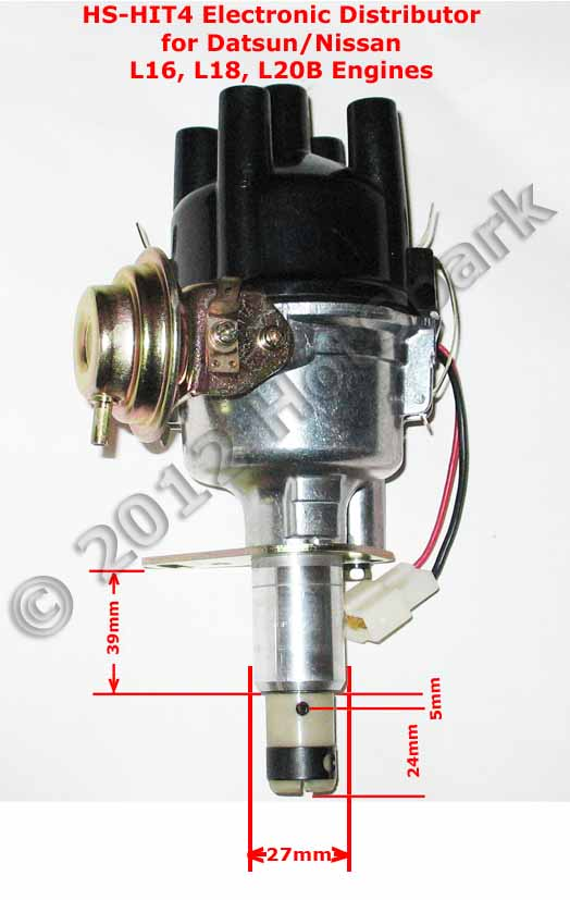 HS HIT4 Distributor Side View 1 new hs hit4 replacement electronic distributor for vehicles with Datsun Nissan 280Z at fashall.co