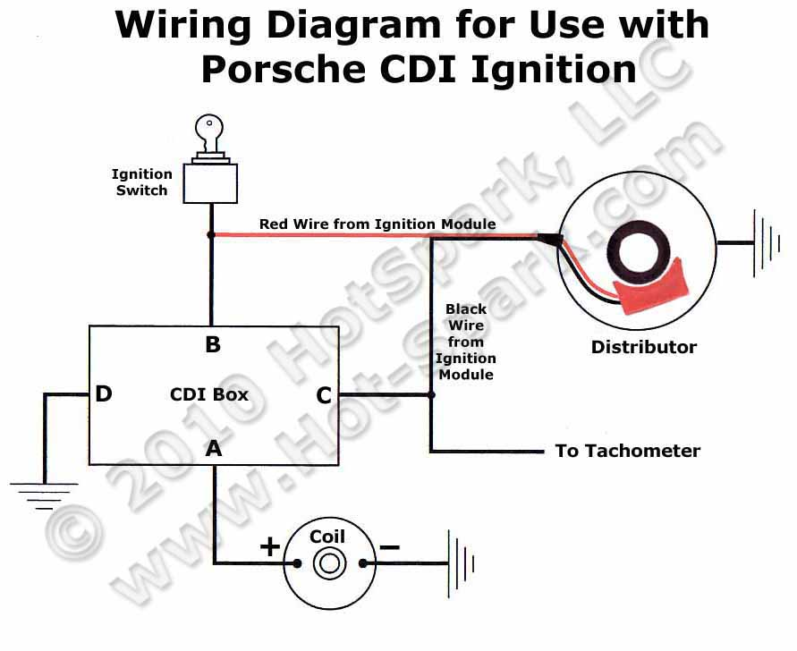 vw vdo tach wiring diagram instructions installing the hot spark ignition in bosch distributors  installing the hot spark ignition